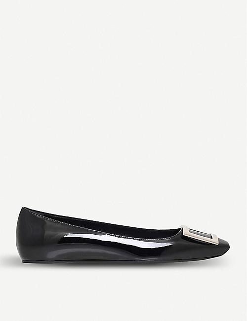 96a0d6c45 ROGER VIVIER Trompette patent-leather ballet flats