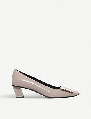 ROGER VIVIER: Belle Vivier patent-leather court shoes