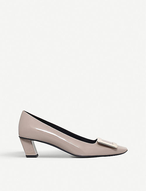 e0ea8a9fd39e ROGER VIVIER Belle Vivier patent-leather court shoes