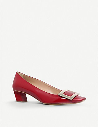 ROGER VIVIER: Décolleté T45 patent-leather court shoes