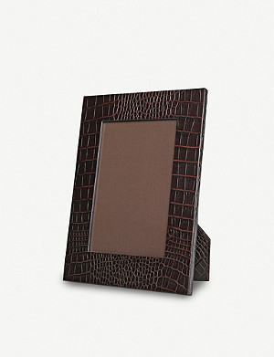 "SMYTHSON Mara small leather photo frame 8""x6"""