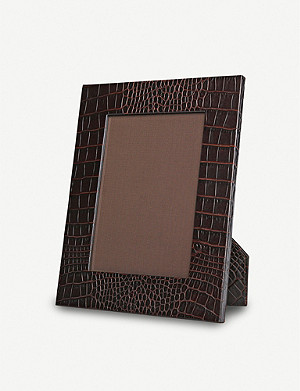 "SMYTHSON Mara medium leather photo frame 9""x7"""