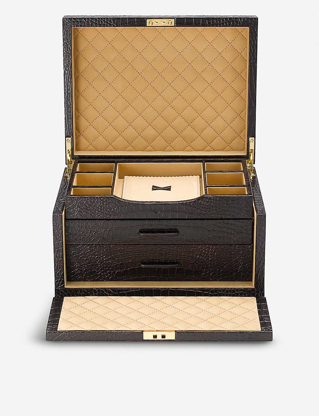 97afce068374 SMYTHSON - Mara 3 drawer leather jewellery box
