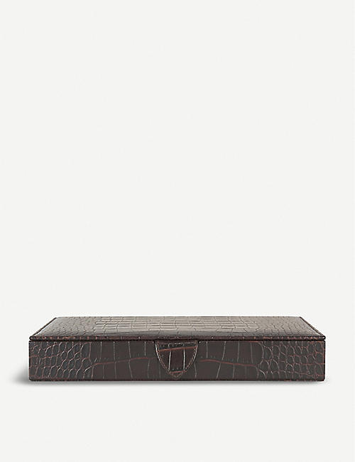 SMYTHSON Mara leather bridge set
