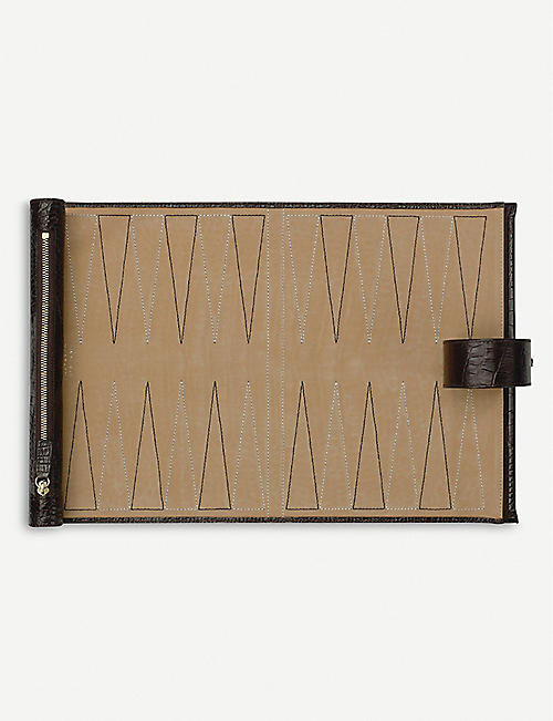 SMYTHSON Mara leather small travel backgammon roll