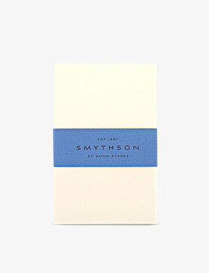 SMYTHSON Cream Wove King's correspondence cards box of 50