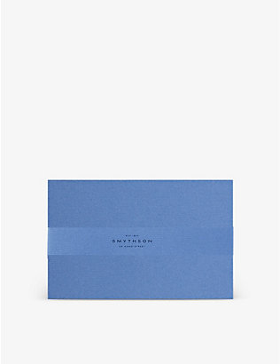 SMYTHSON: Nile Blue Kings correspondence cards pack of 10