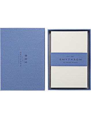 SMYTHSON: White Laid Kings correspondence cards