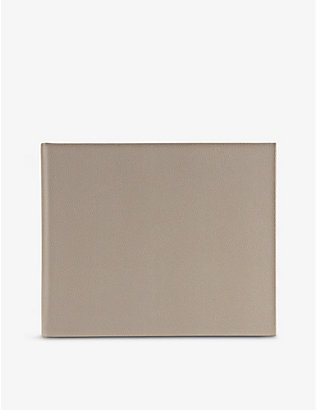 SMYTHSON: Logo-embossed medium leather visitors book