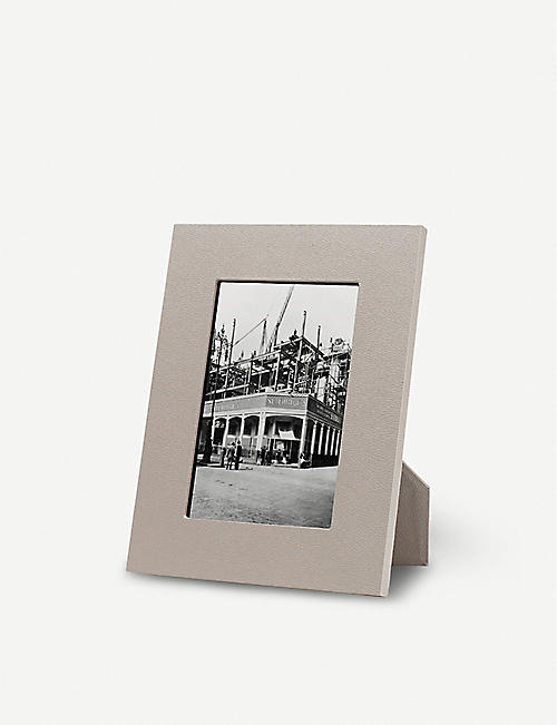SMYTHSON: Grosvenor leather photo frame 4x6""