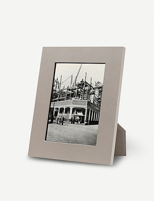 SMYTHSON: Grosvenor leather photo frame 5x7""