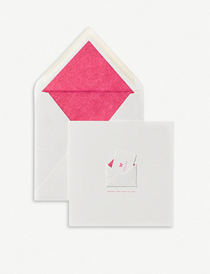 SMYTHSON With Love, Happy Mother's Day greetings card 15cm x 15cm