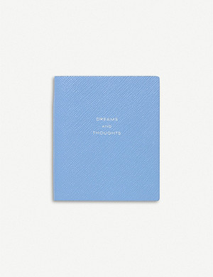SMYTHSON Panama dreams and thoughts leather notebook 11cm