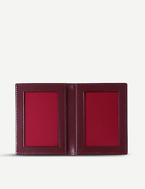 SMYTHSON Panama grained-leather travel pass holder