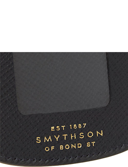 SMYTHSON Panama leather luggage tag