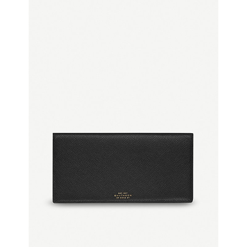 SMYTHSON | Panama Slim Grained-Leather Travel Wallet | Goxip