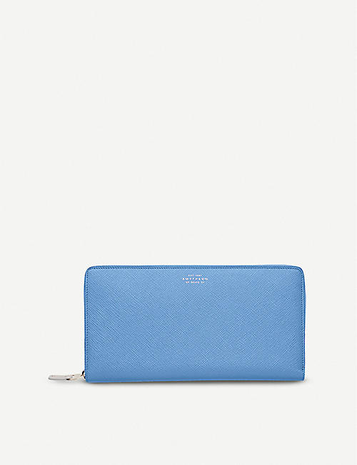 SMYTHSON: Panama grained-leather travel wallet