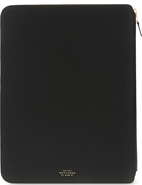 SMYTHSON Panama leather A4 writing folder 25cm