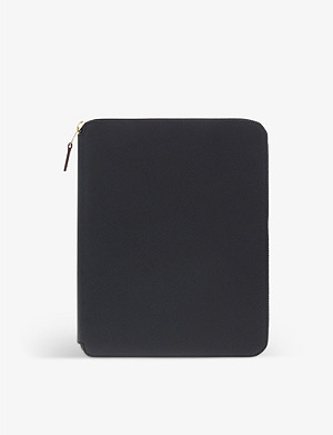 SMYTHSON Panama leather a5 writing folder 24cm