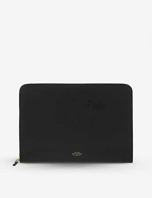 "SMYTHSON: Panama cross-grain leather 13"" laptop case"