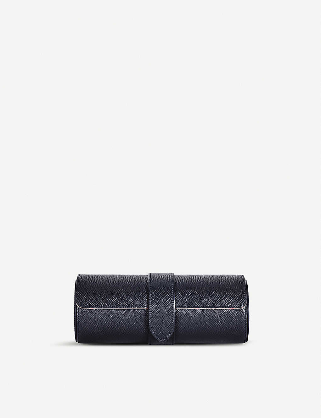 SMYTHSON: Panama grained-leather travel watch roll
