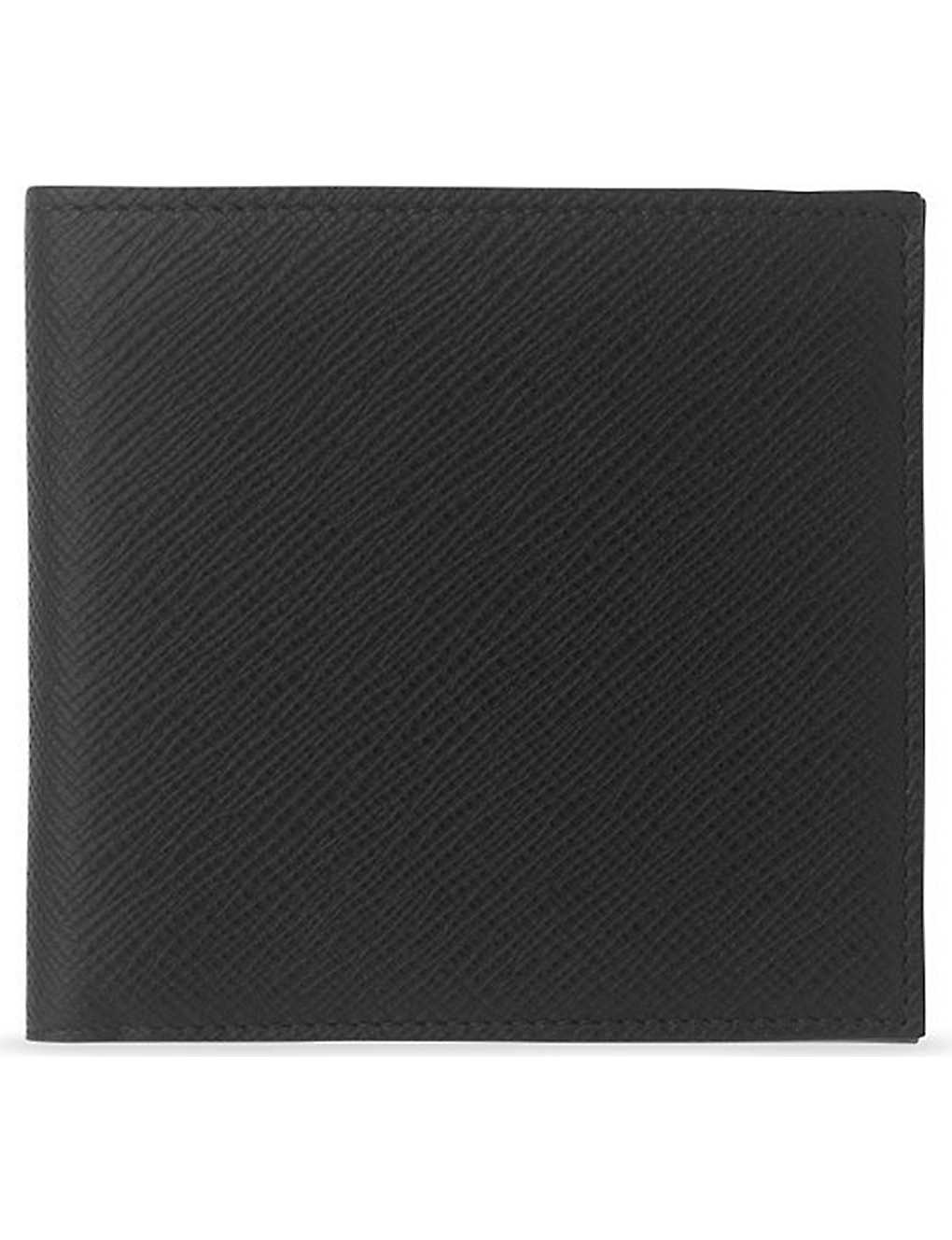 SMYTHSON: Panama cross-grain leather eight card wallet