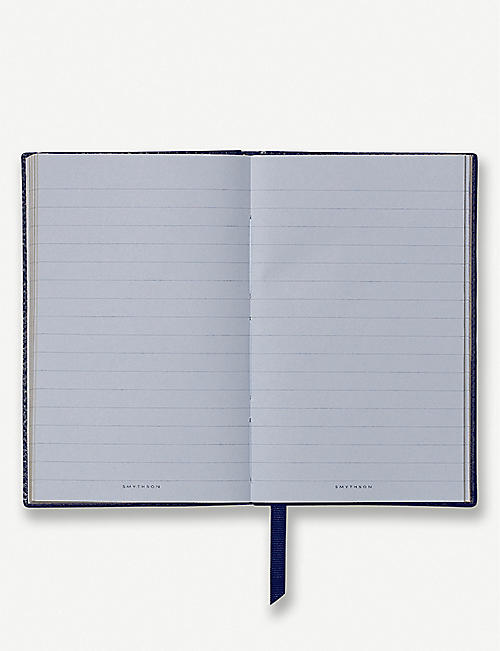 SMYTHSON Panama leather notebook 14cm