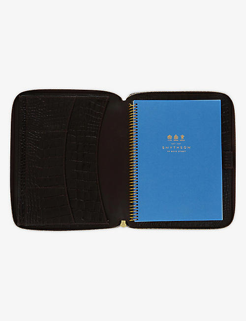 SMYTHSON Mara leather A5 writing folder 25cm