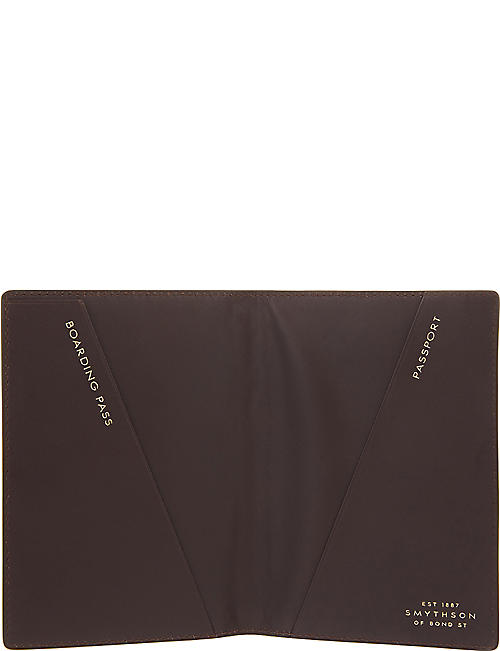 SMYTHSON Mara leather passport cover