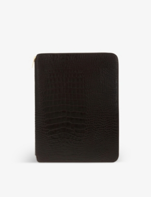 SMYTHSON Mara leather A4 writing folder 25cm