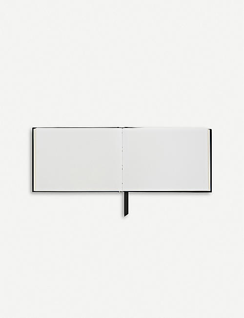 SMYTHSON Small leather guest book
