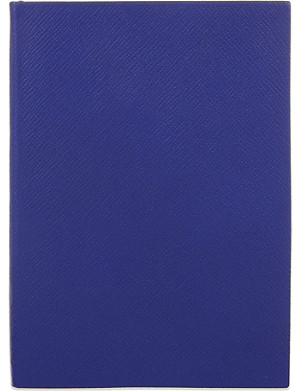 SMYTHSON Soho leather notebook 20cm