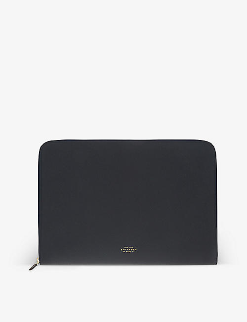 "SMYTHSON: Panama leather 13"" laptop case"