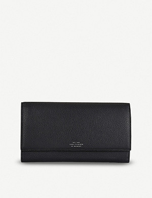 SMYTHSON Burlington Marshall leather travel wallet