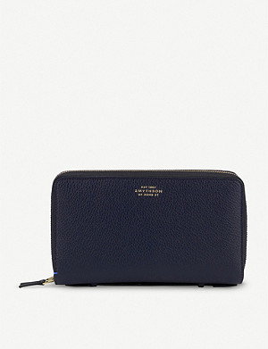 SMYTHSON Burlington double-zip leather travel wallet