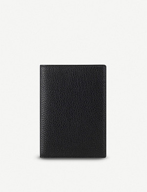 SMYTHSON Burlington leather passport cover