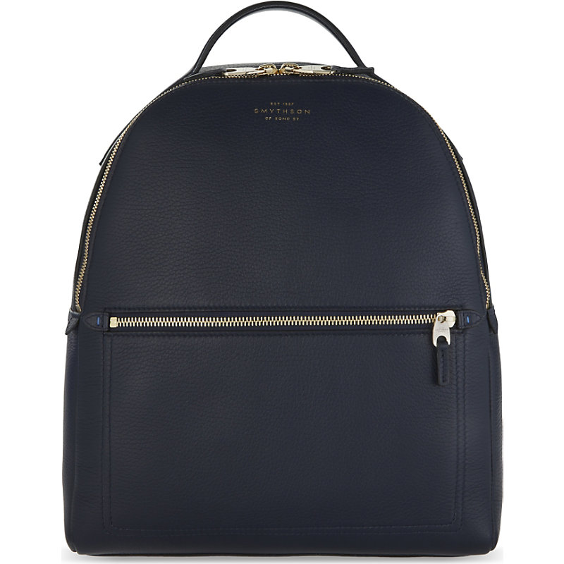 SMYTHSON | Smythson Burlington Small Grained Leather Backpack, Women'S | Goxip