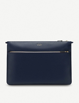 SMYTHSON Burlington zipped leather document holder