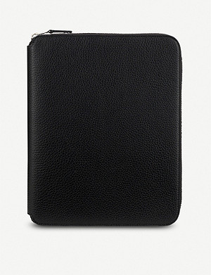 SMYTHSON Burlington A5 zipped leather writing folder