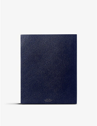 SMYTHSON: Portobello leather sketchbook 21cm x 26cm