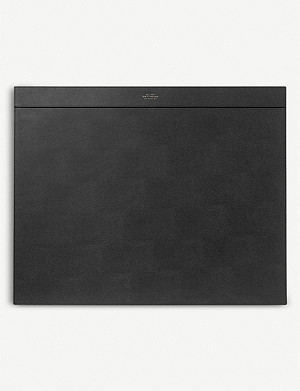 SMYTHSON Grosvenor leather desk blotter