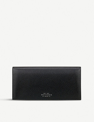 SMYTHSON Burlington slim leather coat wallet with coin pocket
