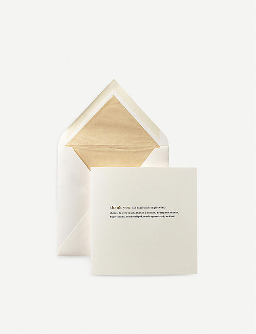 SMYTHSON Thank You Expressions Card
