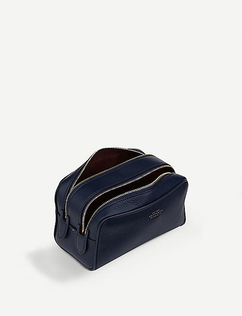 SMYTHSON Burlington leather small washbag