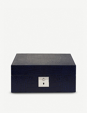 SMYTHSON Mara lockable leather watch box