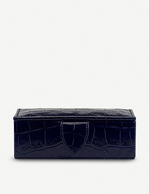 SMYTHSON Mara mini leather cufflink box