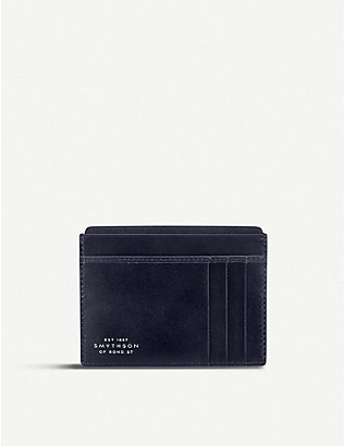 SMYTHSON: Mara leather card and note holder