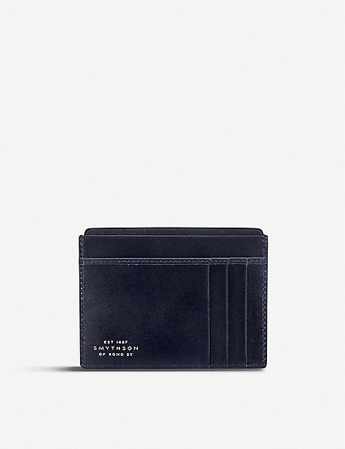 SMYTHSON Mara leather card and note holder
