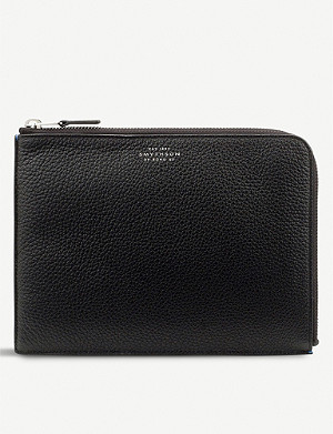 SMYTHSON Burlington medium leather pouch