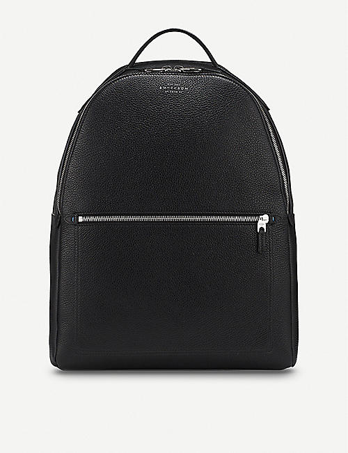 SMYTHSON Burlington zipped leather backpack
